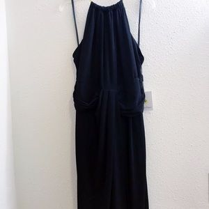 NWT Calvin Klein strapless dress with gold choker